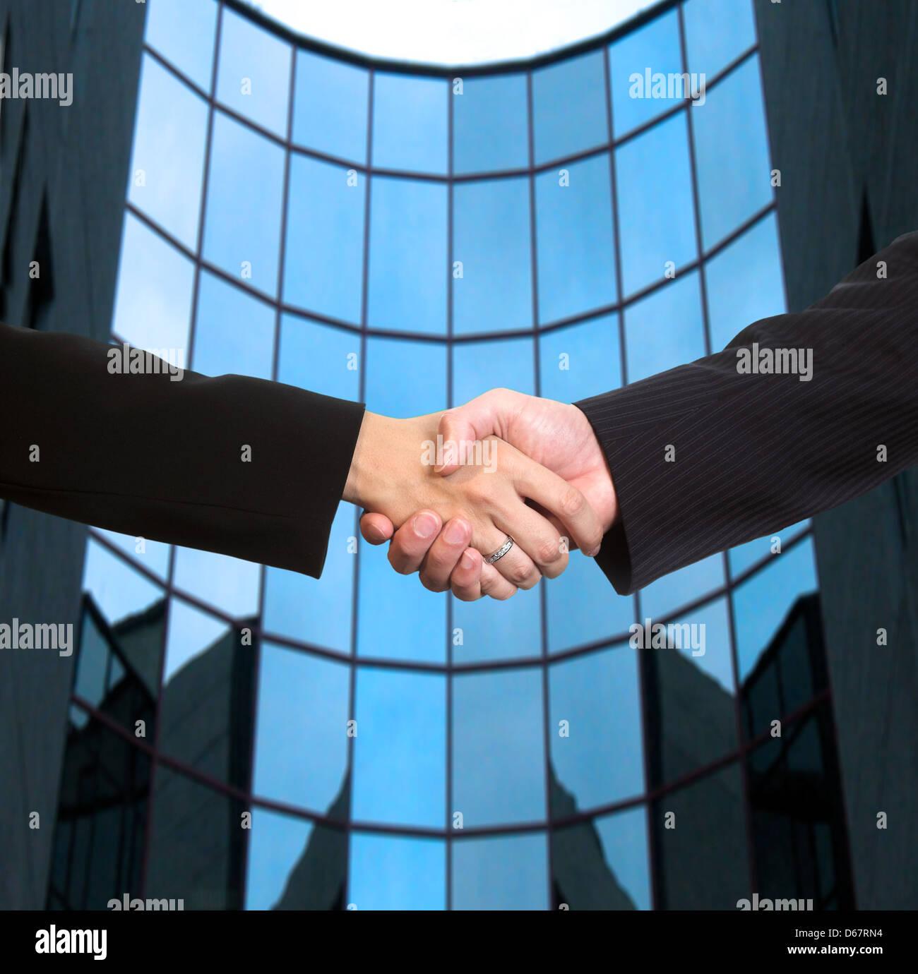 cooperation,cooperation,handshake - Stock Image