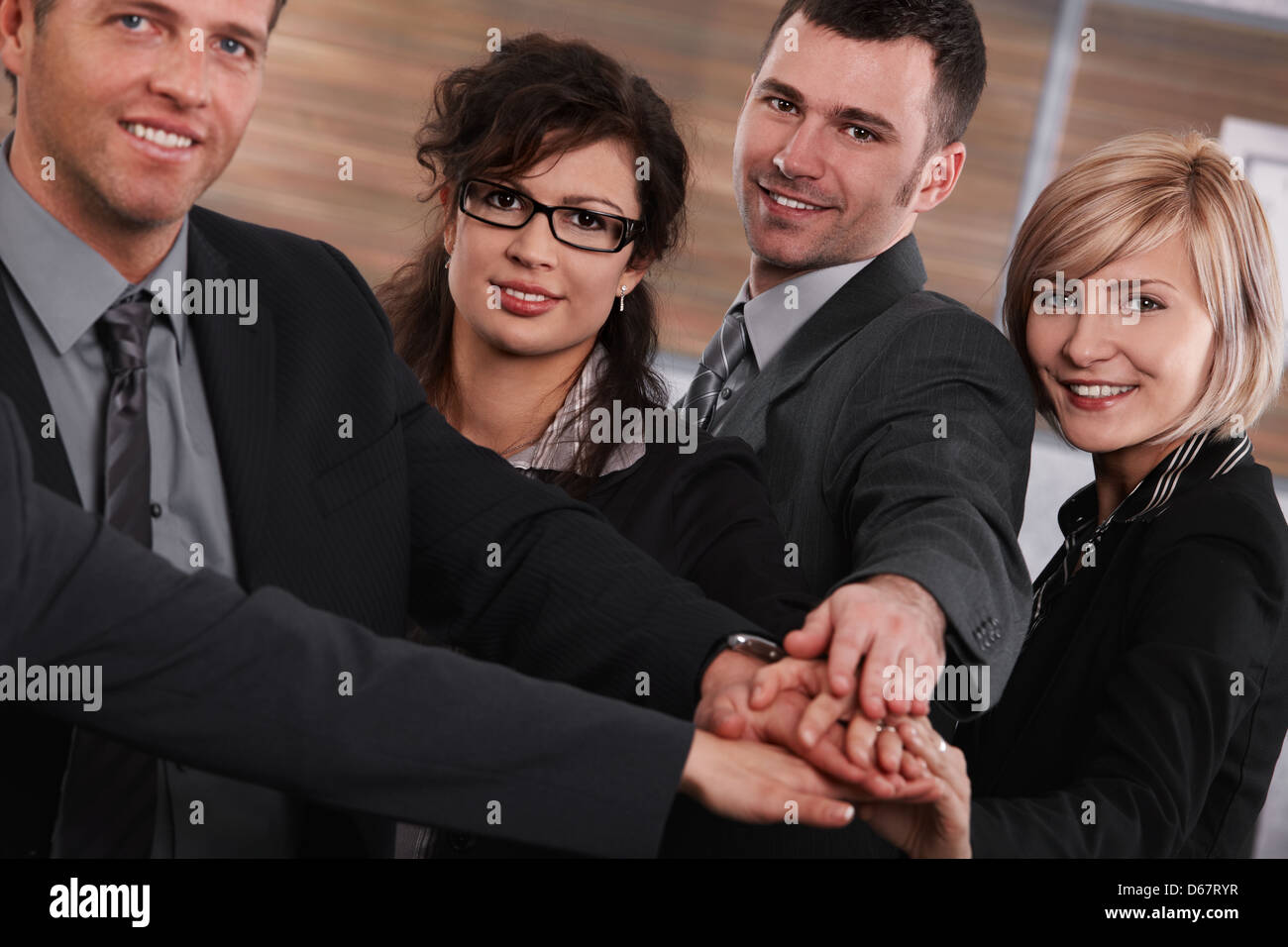 cooperation,team spirit,handshake,business person - Stock Image