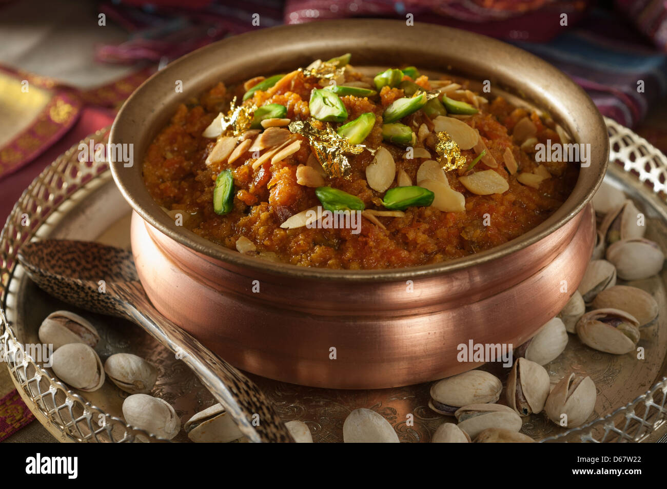 Gajar halwa Carrot halwa Traditional Indian dessert - Stock Image