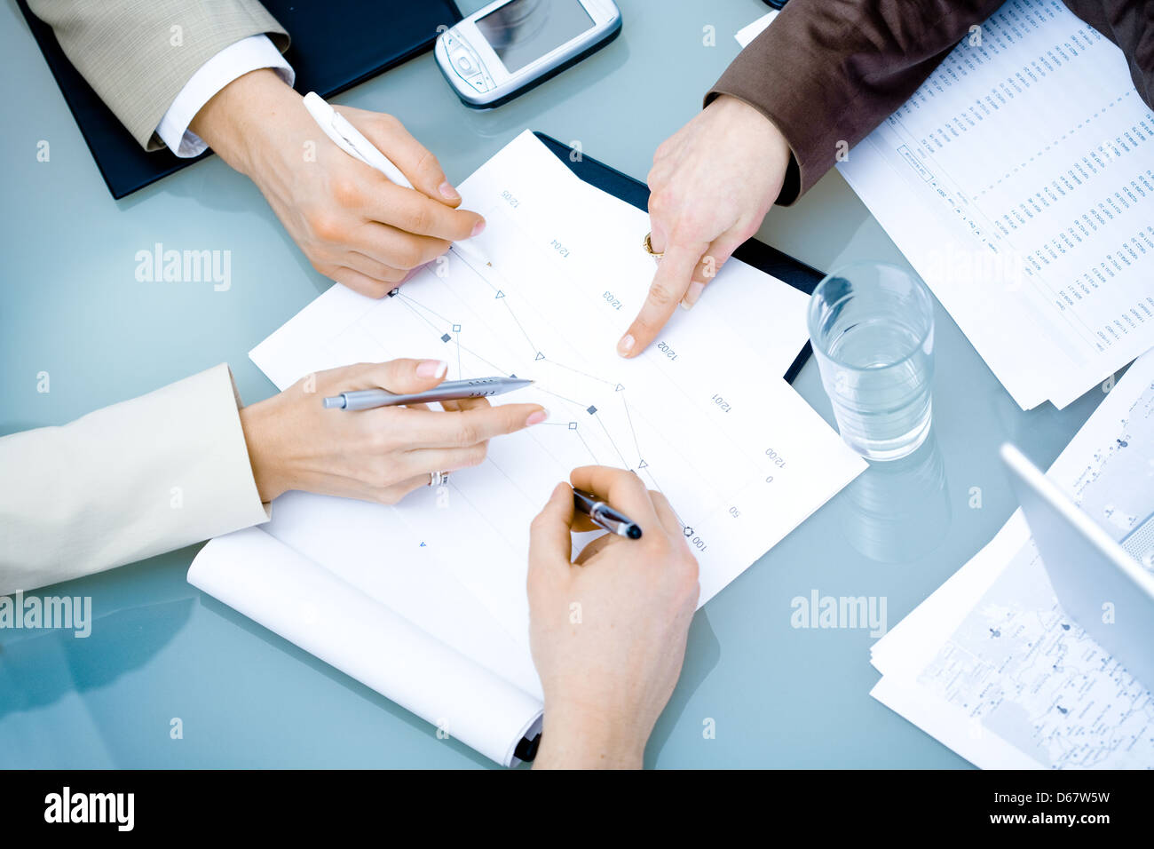 office,workplace,teamwork,meeting,conversation - Stock Image
