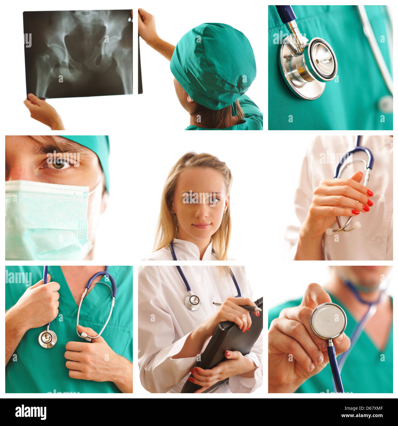 Medical collage - Stock Image
