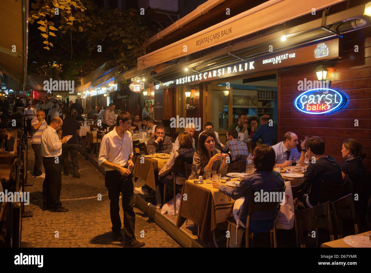 Türkei Istanbul Besiktas Fischlokal Carsi Balik Am Besiktas Balik