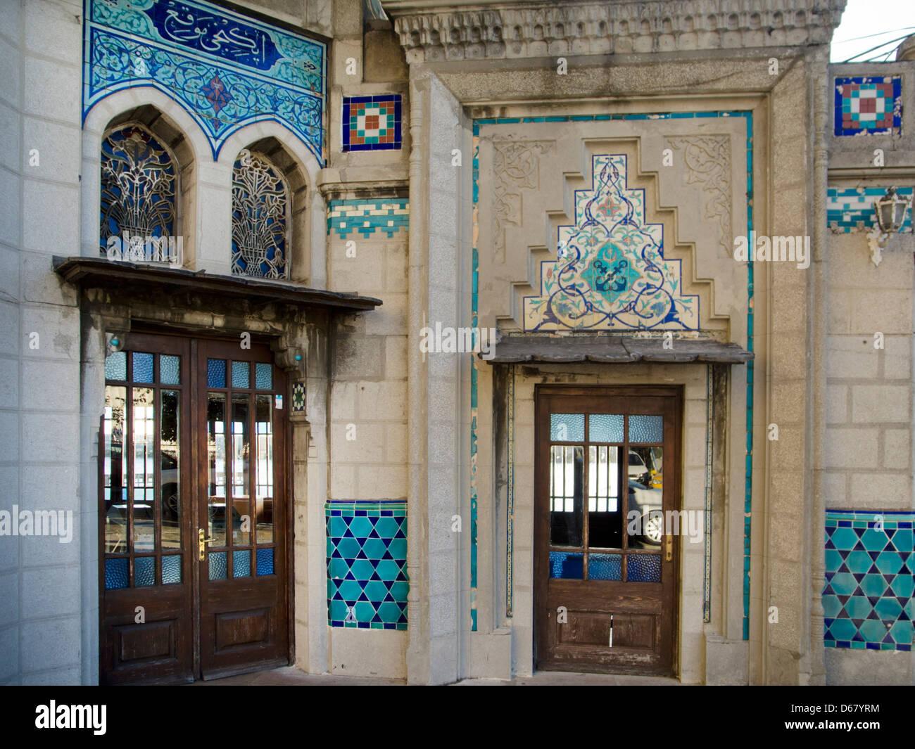 Türkei, Istanbul, Haydarpasa, Schiffsanlegestelle ( Iskele ) mit orientalischen Fliesen geschmückt. - Stock Image