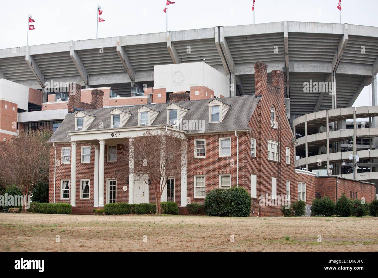 Bryant–Denny Stadium, located in Tuscaloosa, Alabama,USA - Stock Image