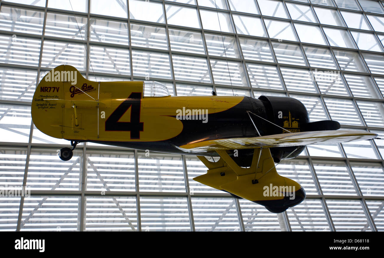 1931 Gee Bee Model Z Super Sporter (reproduction). The Museum of Flight. Seattle. USA - Stock Image