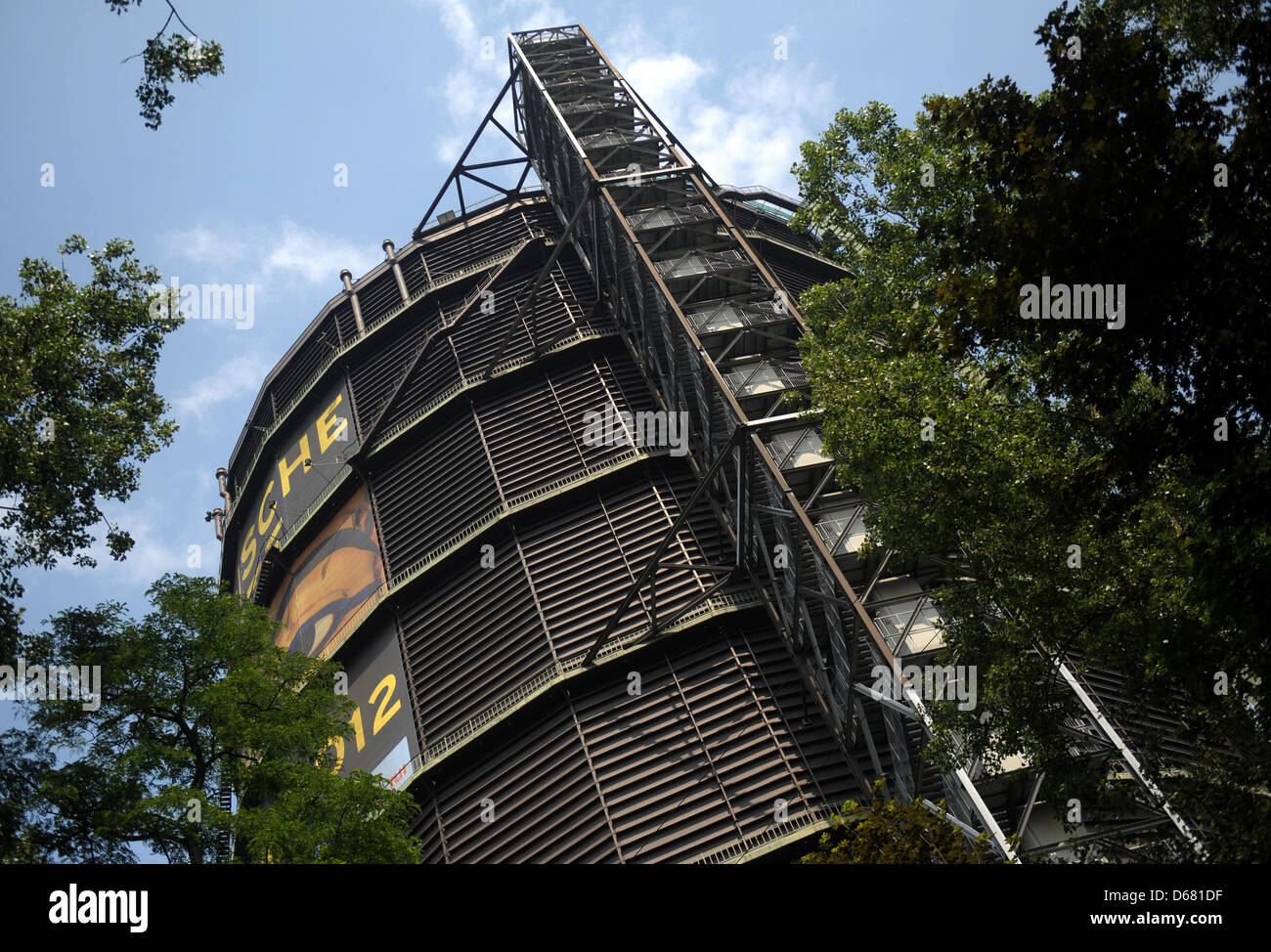 FILE - A file photo dated 14 June 2012 shows the Gasometer in Oberhausen, Germany. The Oberhausen gasometer, an Stock Photo