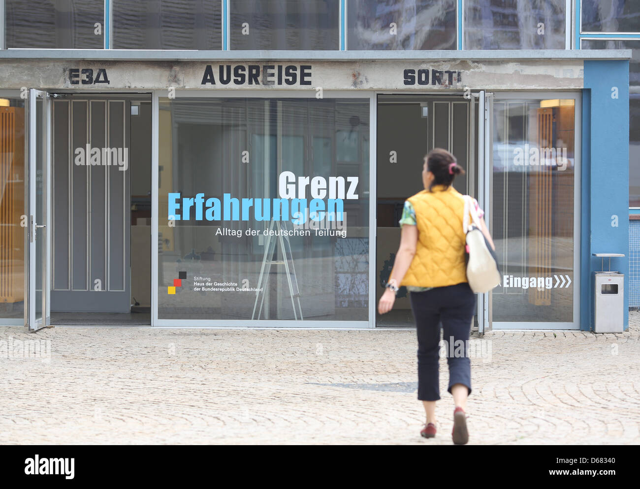 A Visitor Walks Into The Former Departure Hall In Berlin, Germany, 03 July  2012
