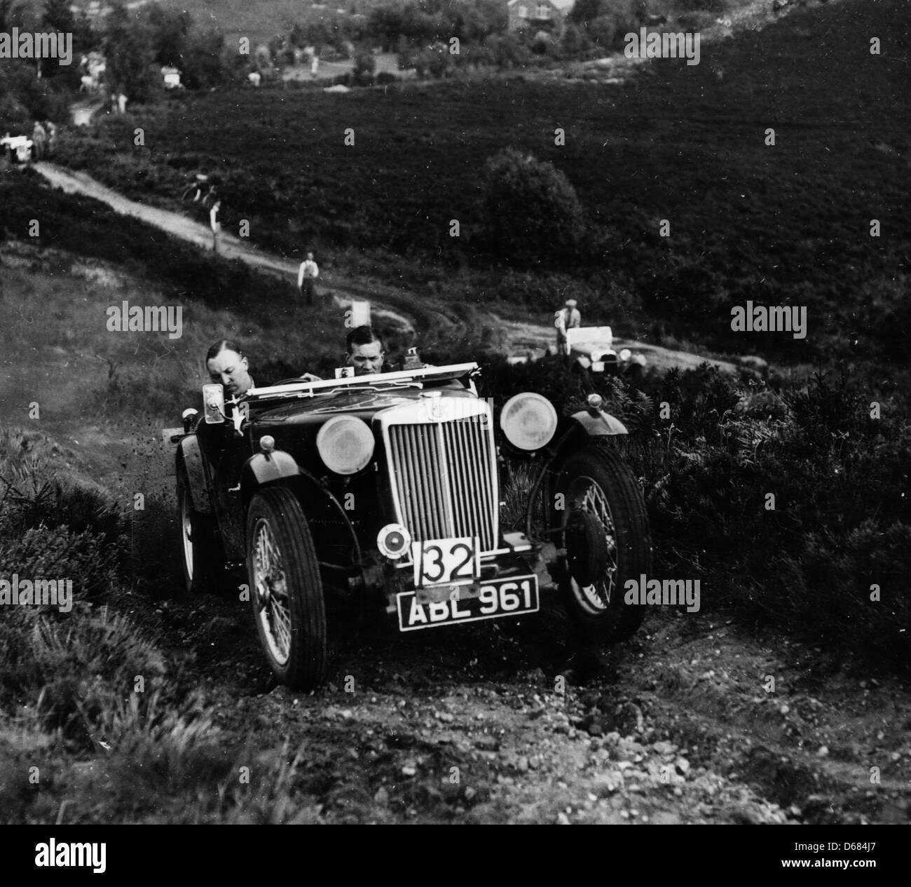 MG TA competing on the Lawrence Cup Trial - Stock Image