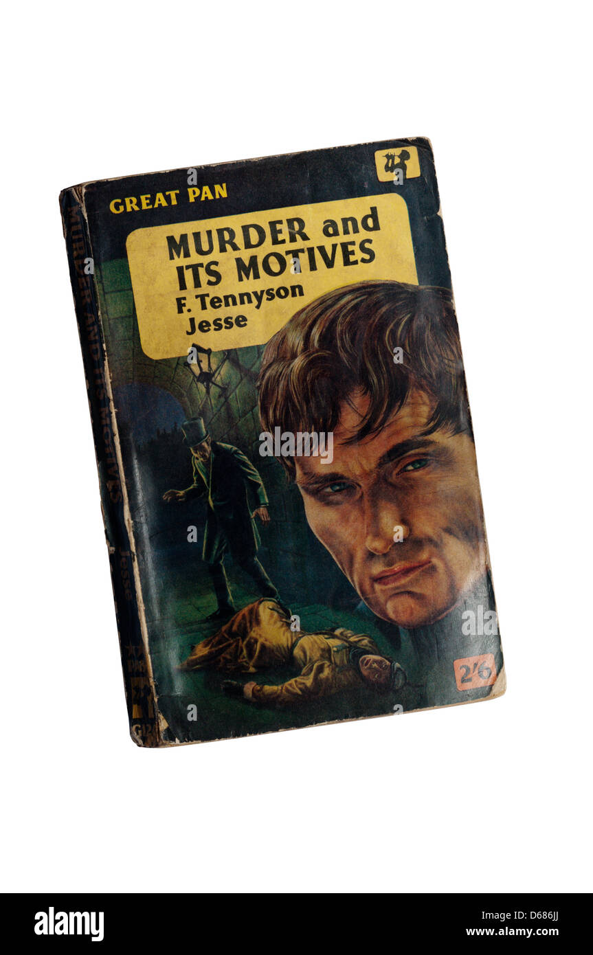 Murder and Its Motives, a Pan crime paperback by F. Tennyson Jesse. - Stock Image