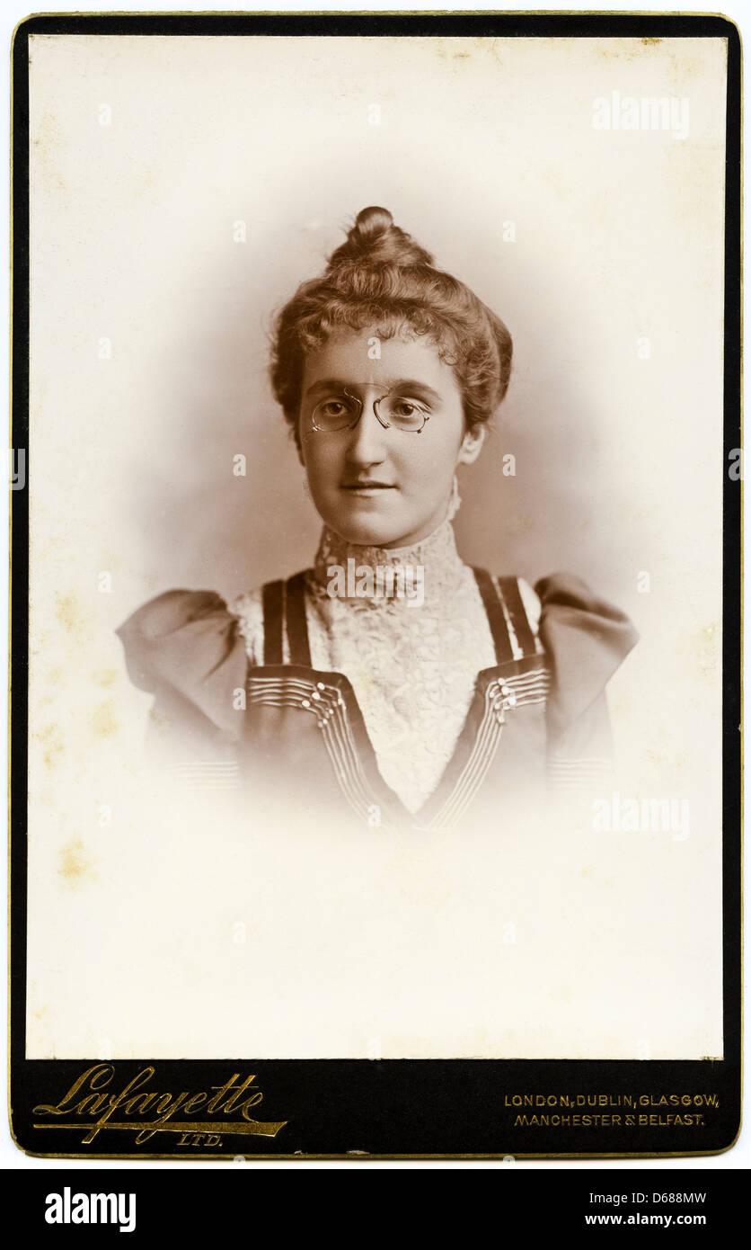 Victorian Woman Cartes De Visite Studio Portrait Circa 1900 By Photographers Lafayette Ltd