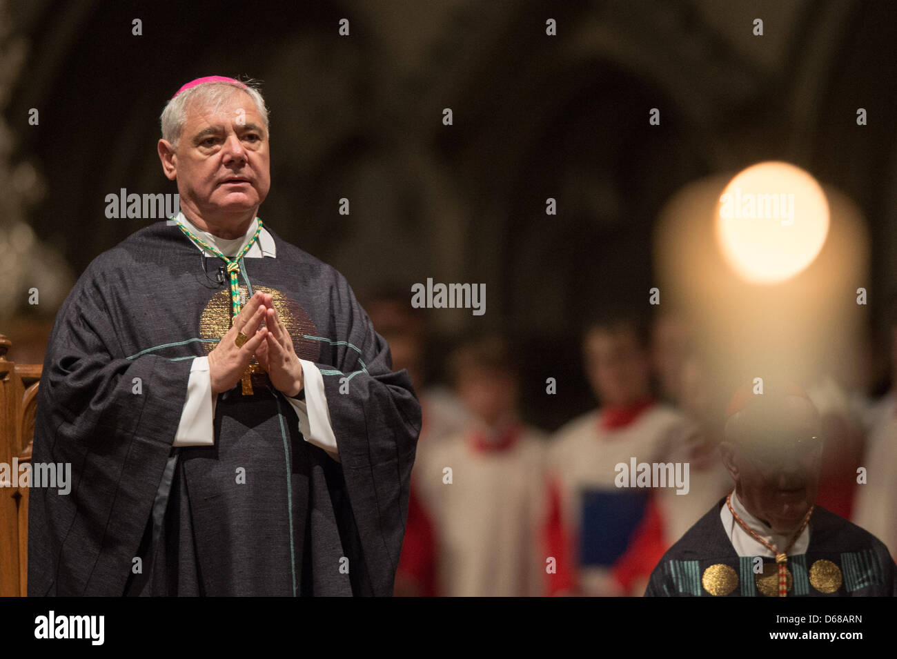 The new Prefect of the Congregation for the Doctrine of the Faith (CDF), Archbishop Gerhard Ludwig Mueller, attends - Stock Image