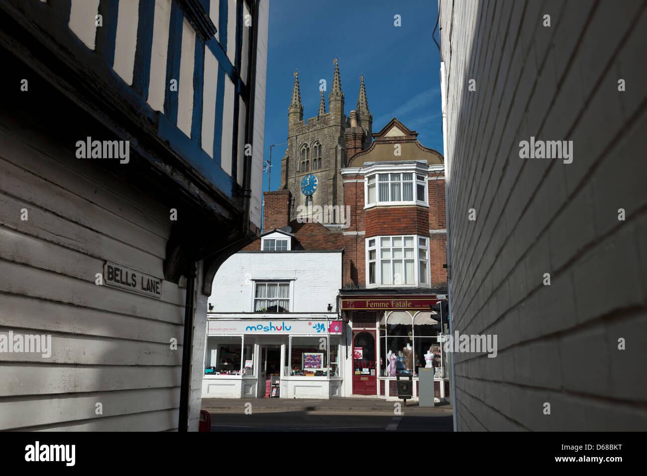 Tenterden High Street, Kent, England - Stock Image