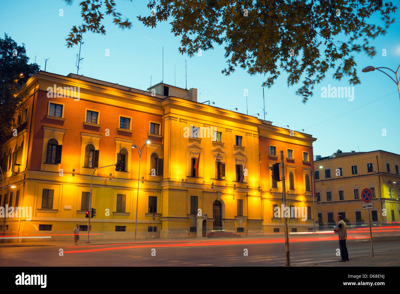 Europe, Albania, Tirana, city center - Stock Image
