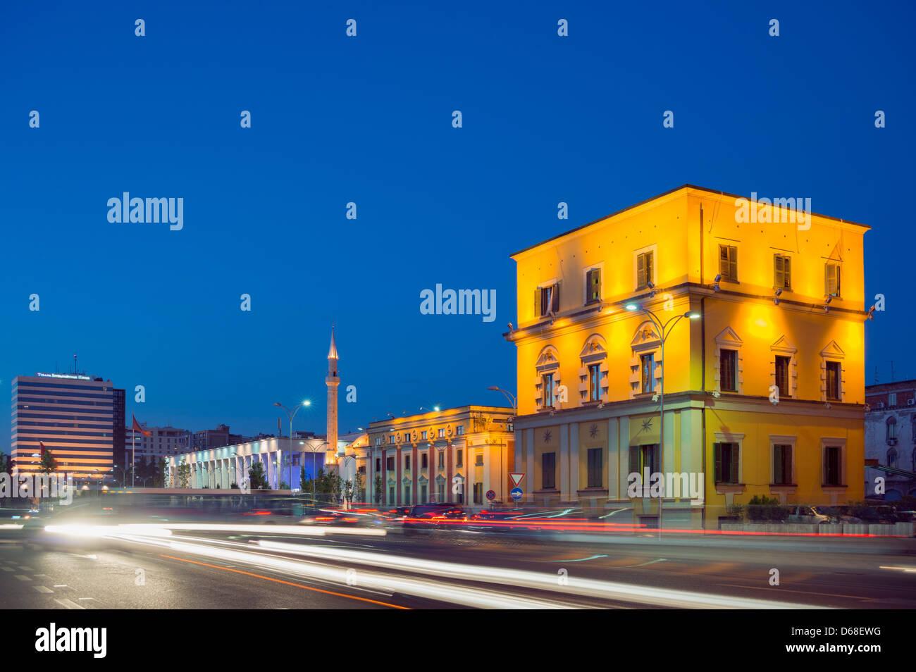 Europe, Albania, Tirana, city center - Stock Image