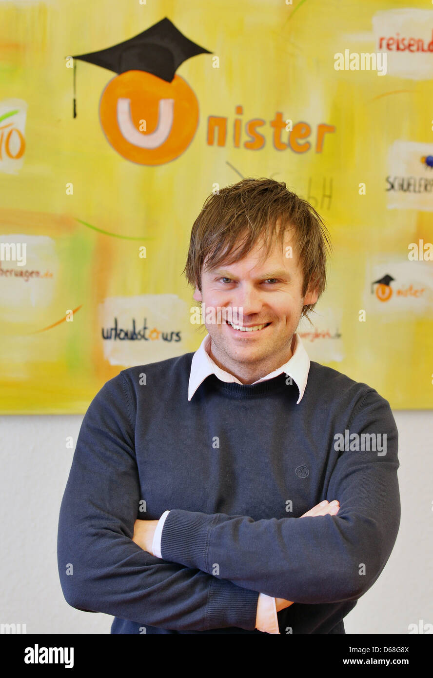 Thomas Wagner, head of theLeipzig company Unister, poses in Leipzig, Germany, 13 July 2012. Unister holding - Stock Image