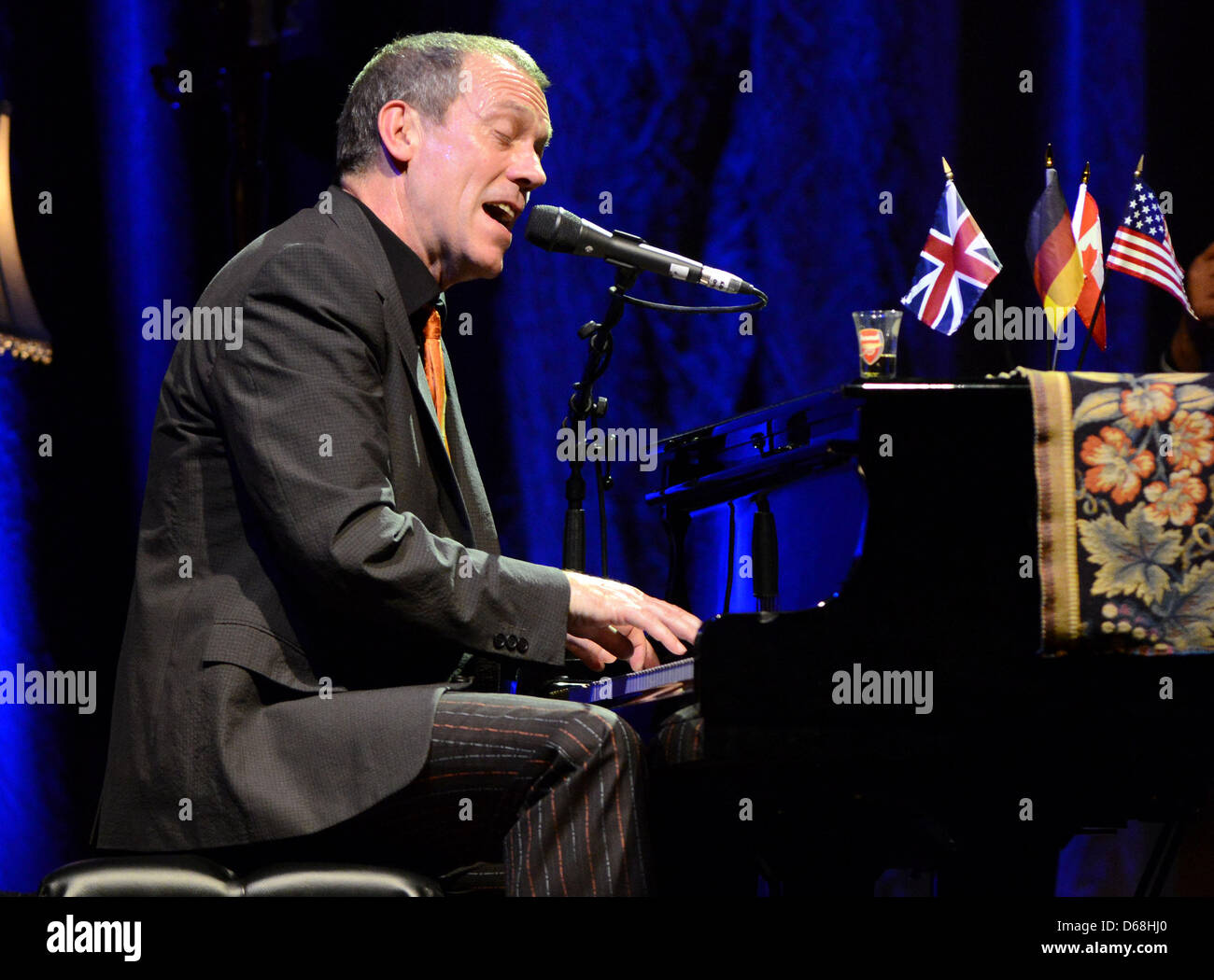 British musician and actor Hugh Laurie of 'Dr. House' fame performs live at Tempodrom in Berlin, Germany, - Stock Image