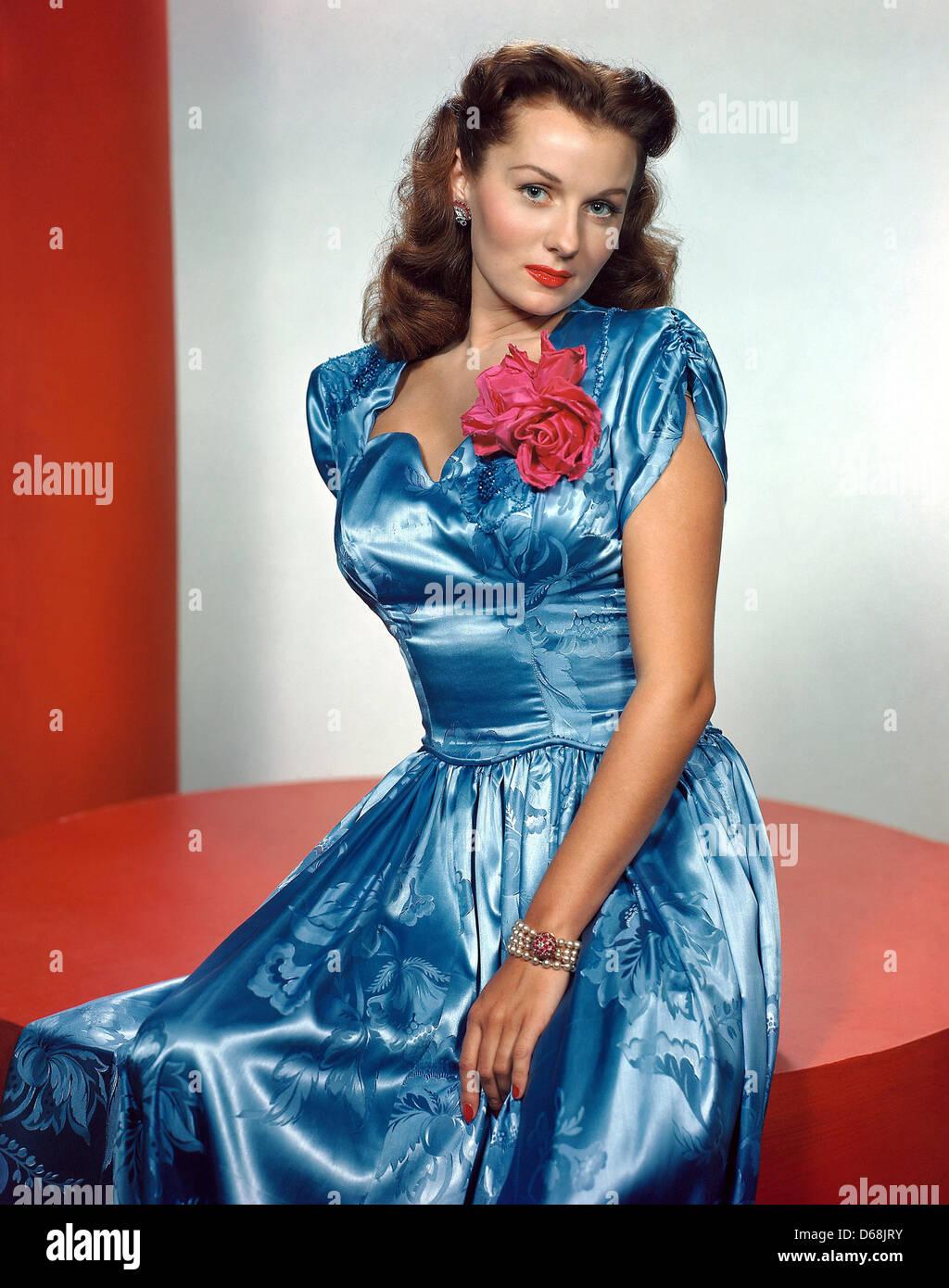 RHONDA FLEMING  US film actress about 1945 - Stock Image