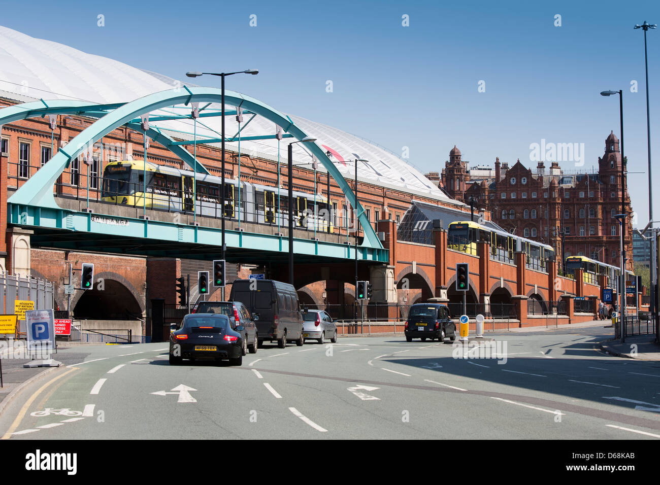 Manchester city centre, Manchester Central (G Mex Gmex G-mex) exhibition centre and converted railway station Stock Photo