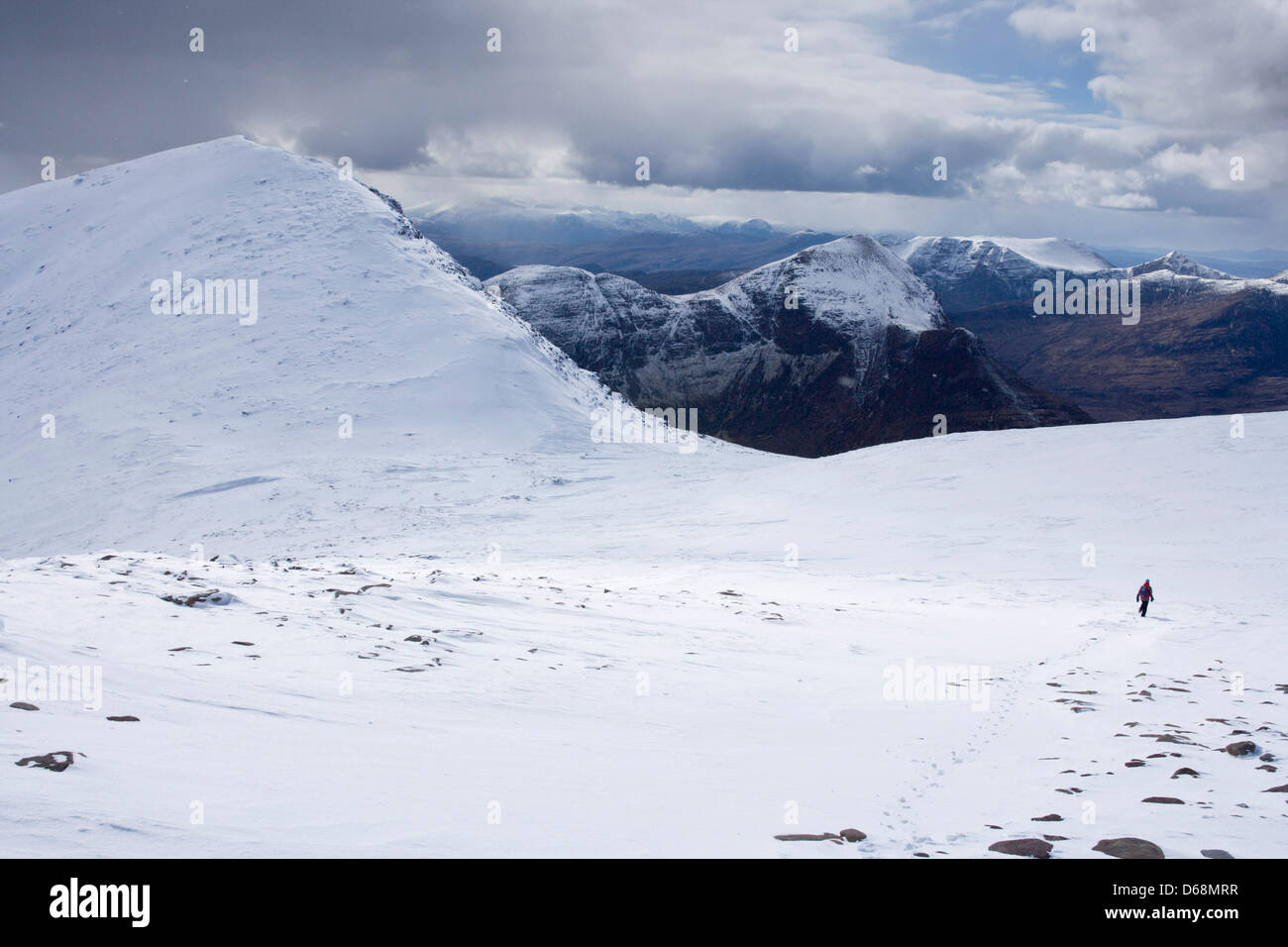 Looking towards An Loagh from Cul Mor. - Stock Image