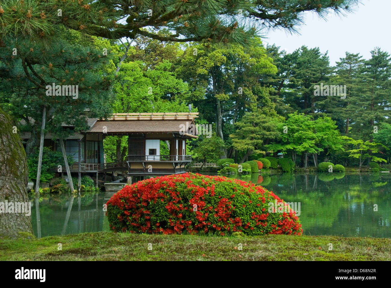 Kenrokuen Gardens, Kanazawa, Ishikawa, Japan - Stock Image