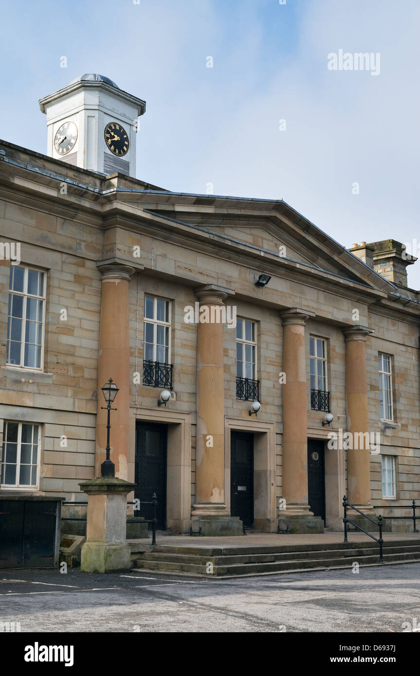 Entrance to Durham Crown Court north east England UK - Stock Image