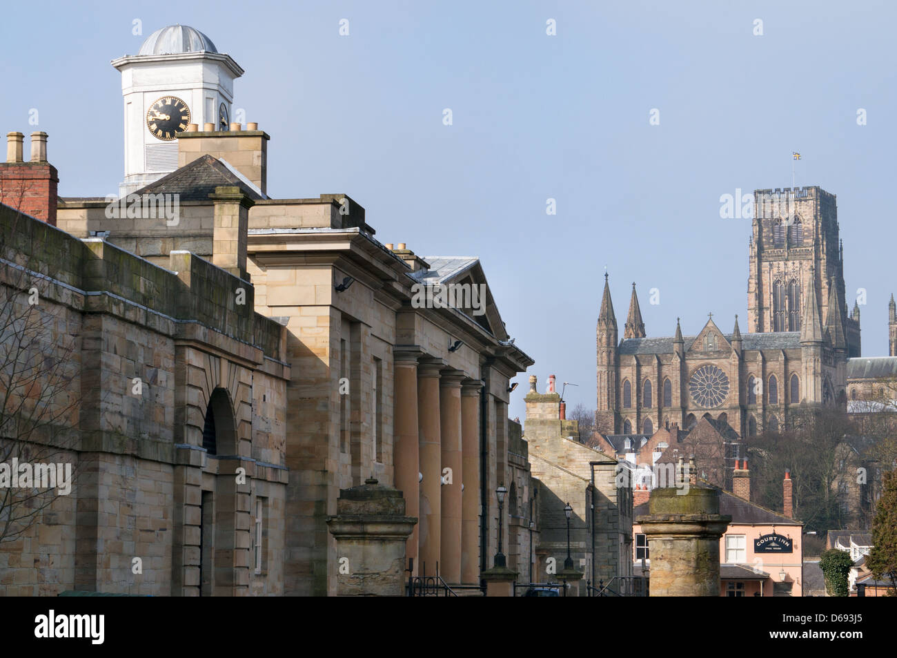 Old Elvet, Durham Crown Court and cathedral north east England UK - Stock Image