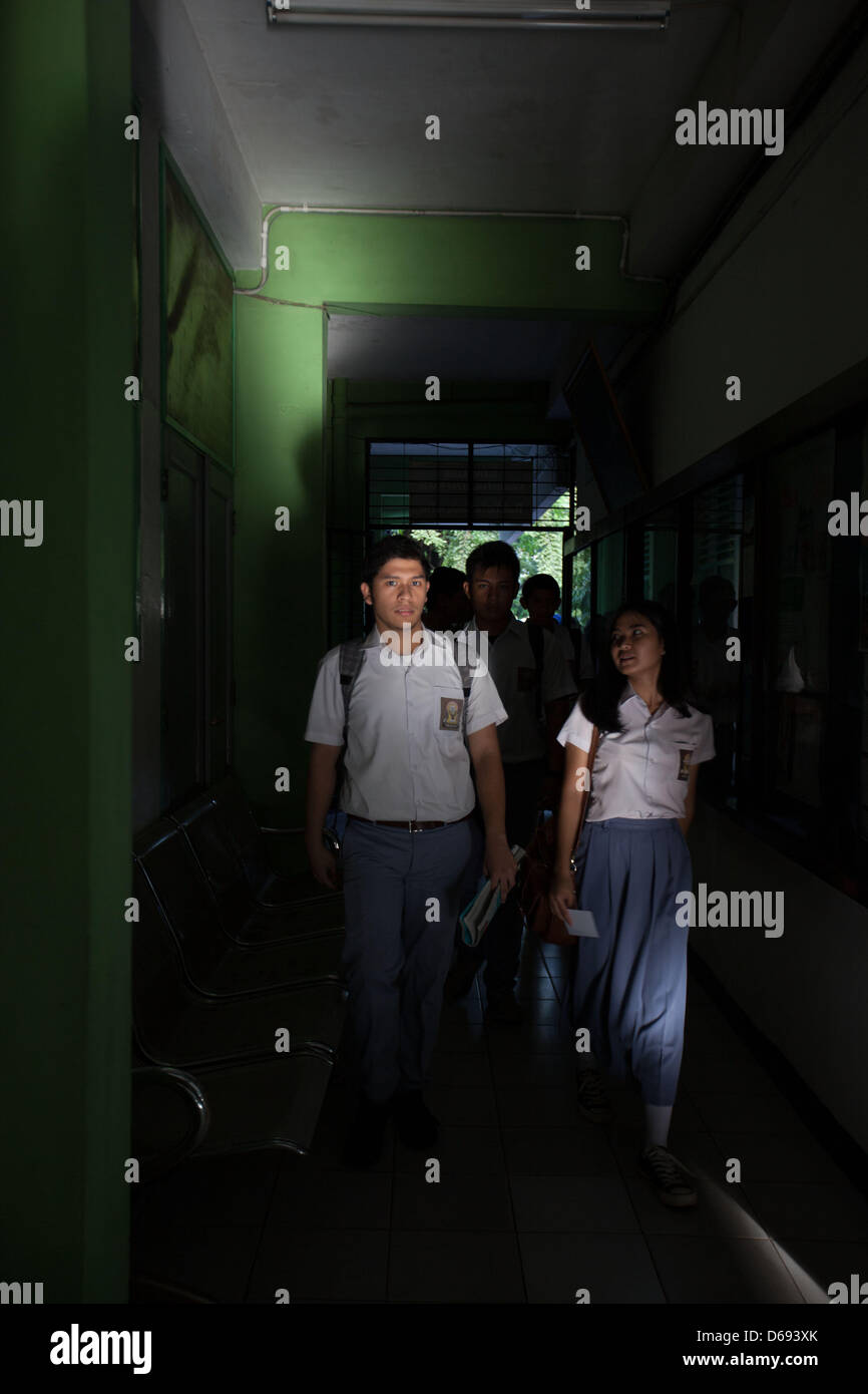Students from 70 High School in South Jakarta, one of Indonesian High School favorite in Indonesia entering their - Stock Image