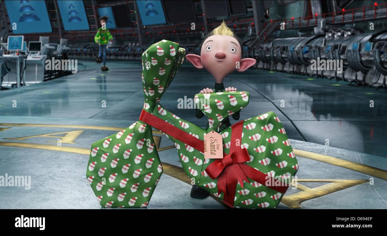 Movie Scene Arthur Christmas 2011 Stock Photo Alamy