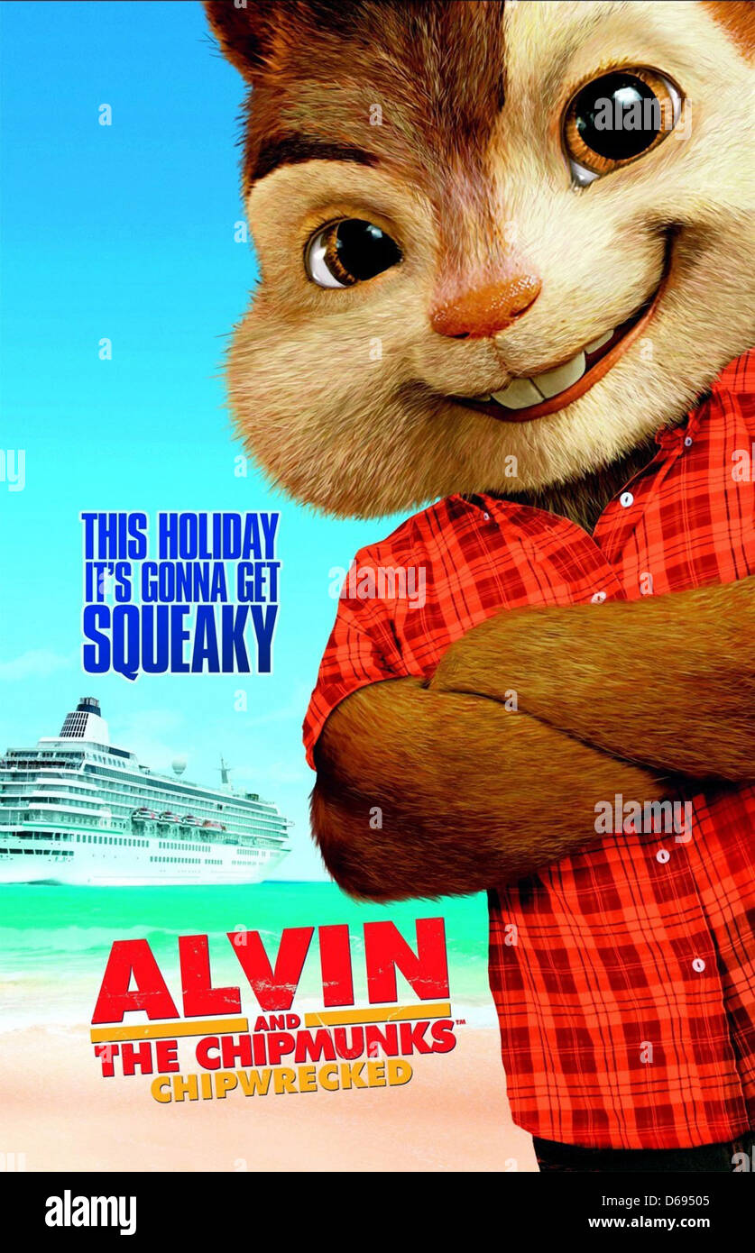 Alvin Poster Alvin And The Chipmunks Chipwrecked 2011 Stock Photo Alamy
