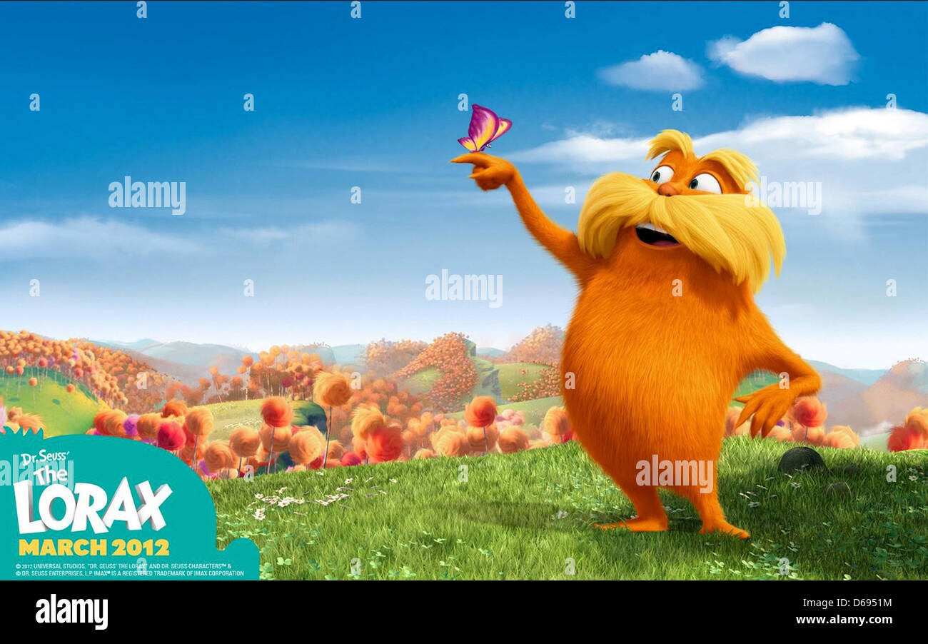 The Lorax Poster Dr Seuss The Lorax 2012 Stock Photo Alamy