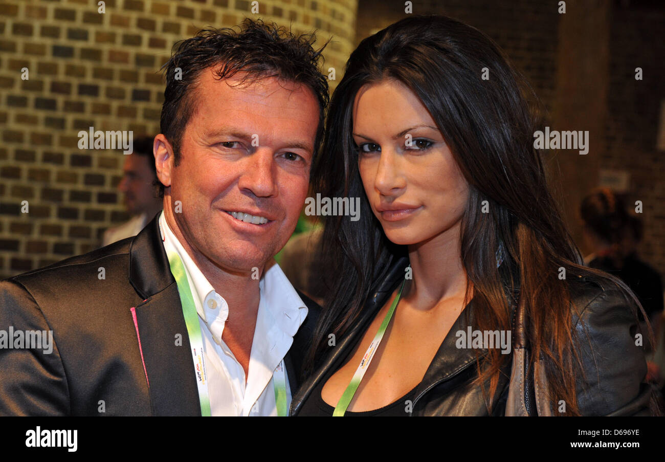Germany Former Soccer Player Lothar Matthaeus And His Girlfriend Joanna Tuczynska Show Up At German House Deutsche Haus During The London 2012 Olympic Games London Great Britain 31 July 2012 Photo Jochen