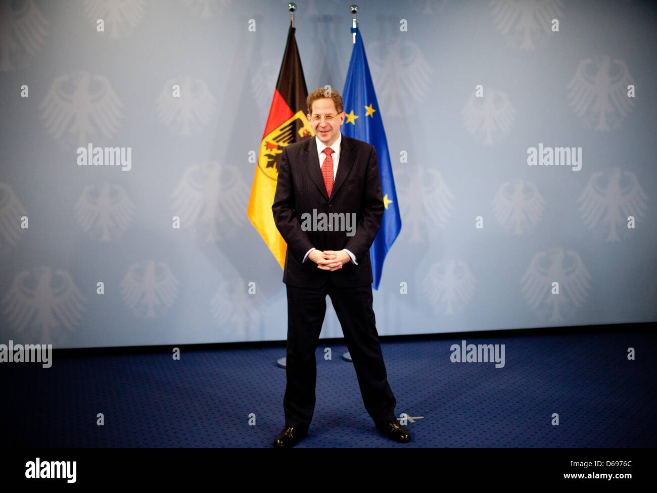 New President of the Federal Office for the Protection of the Constitution, Hans-Georg Maassen, poses for photographers - Stock Image