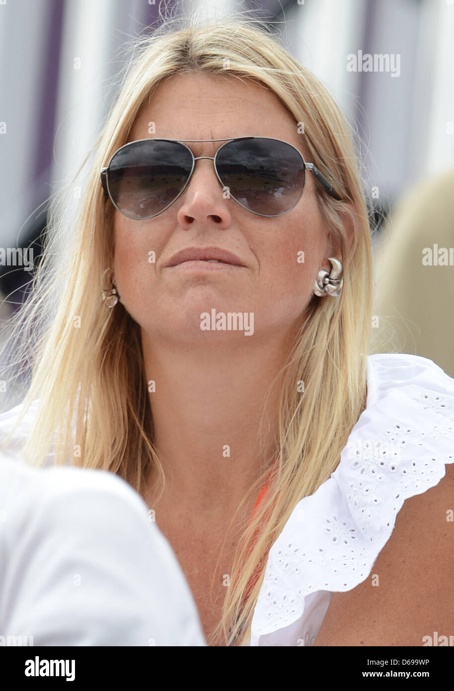 Princess Maxima during the London 2012 Olympic Games dressage competition at Greenwich Park in London, Britain, Stock Photo