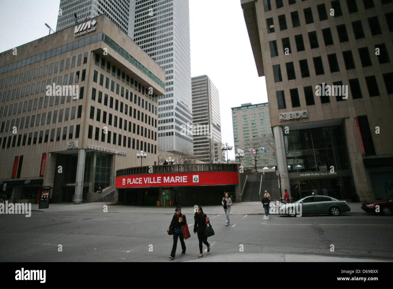 Place Ville Marie in downtown Montreal, Quebec. Stock Photo