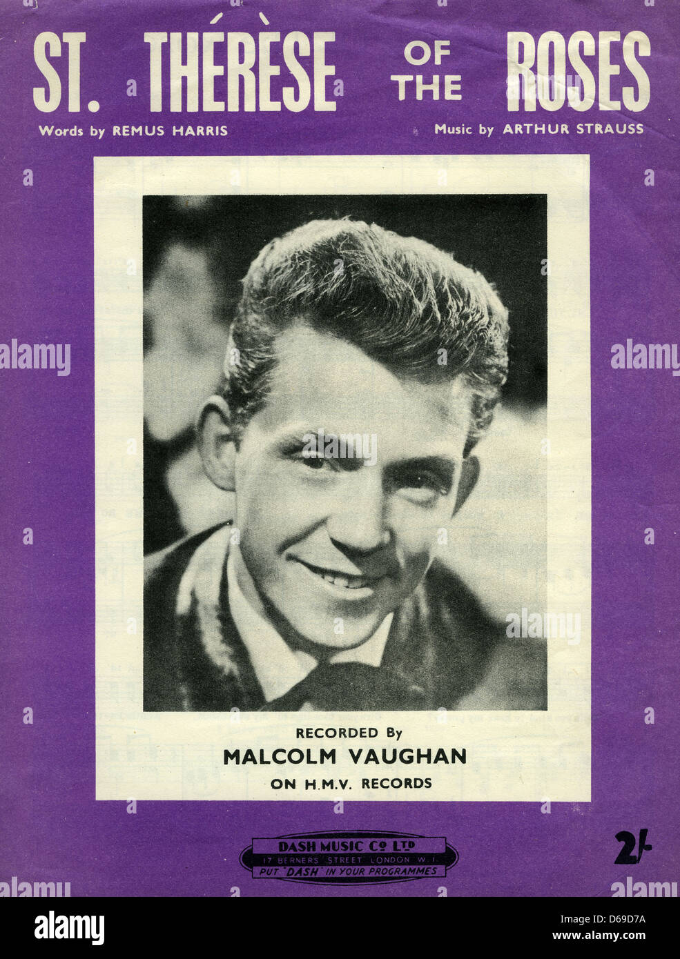 MALCOLM VAUGHAN (1929-2010) Welsh singer whose recording of St.Therese of the Roses provoked much controversy in - Stock Image