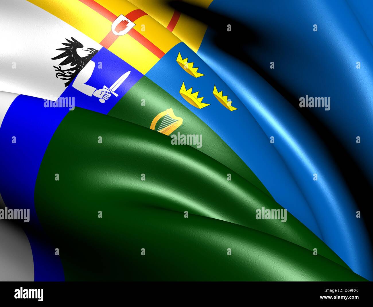 Four Provinces Flag - Stock Image
