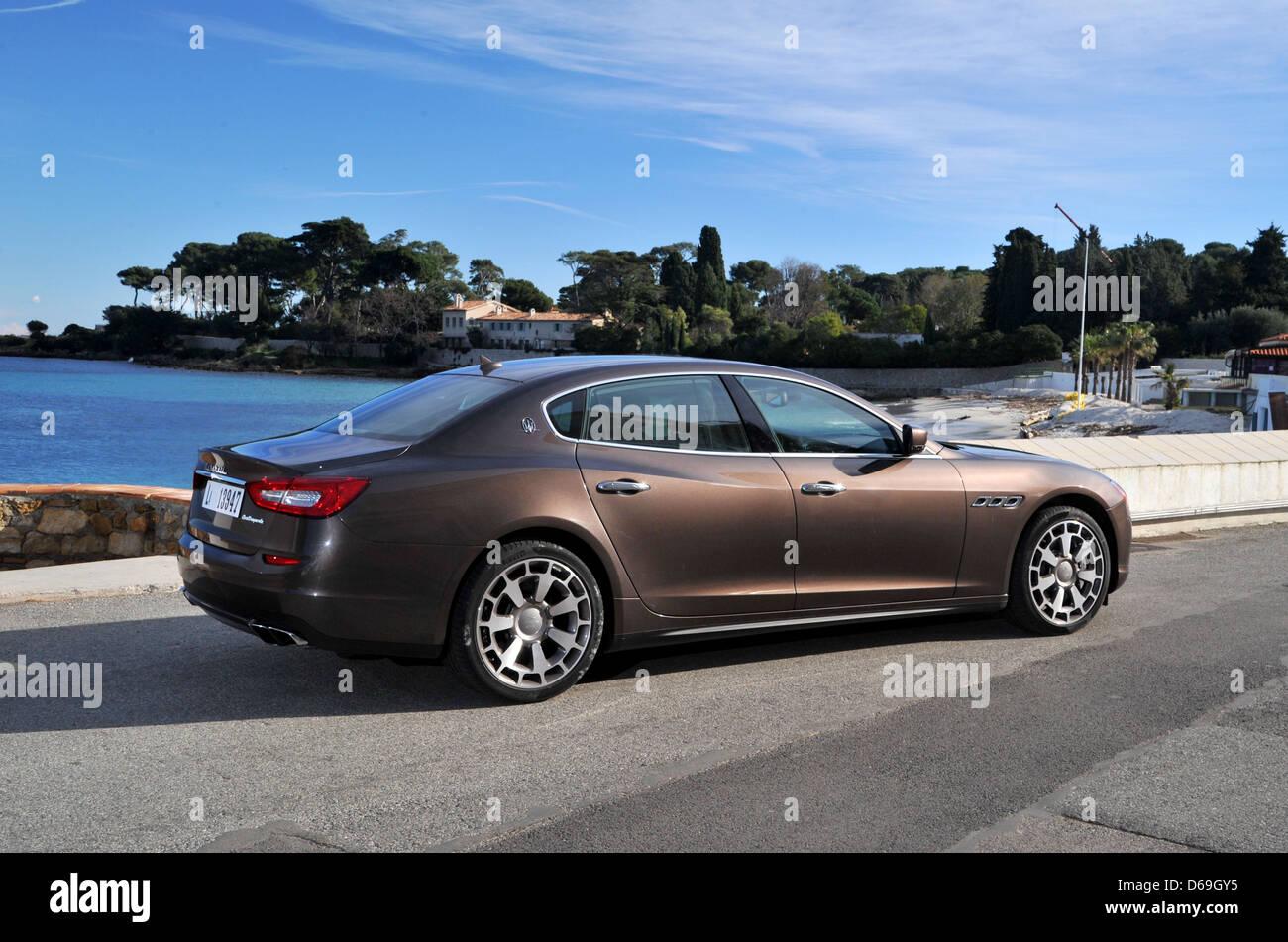 2013 Maserati Quattroporte on the French Riviera - Stock Image