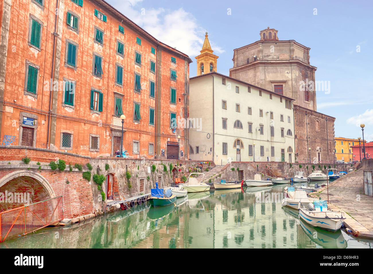 Livorno, Venezia Nuovo, Tuscany, Italy - Stock Image