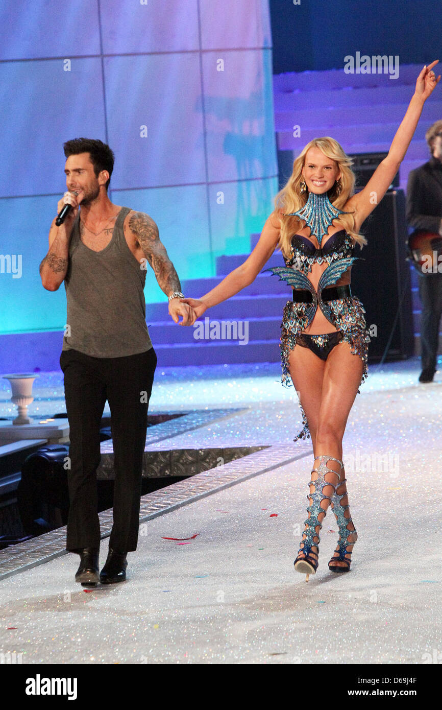 dfce10f810 Adam Levine of Maroon 5 and Anne Vyalitsina 2011 Victoria s Secret Fashion  Show the Lexington Avenue Armory - Performance New