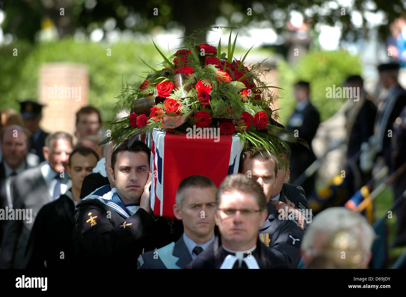 The Coffin Is Carried By The Pall Bearers For The Funeral Of Henry