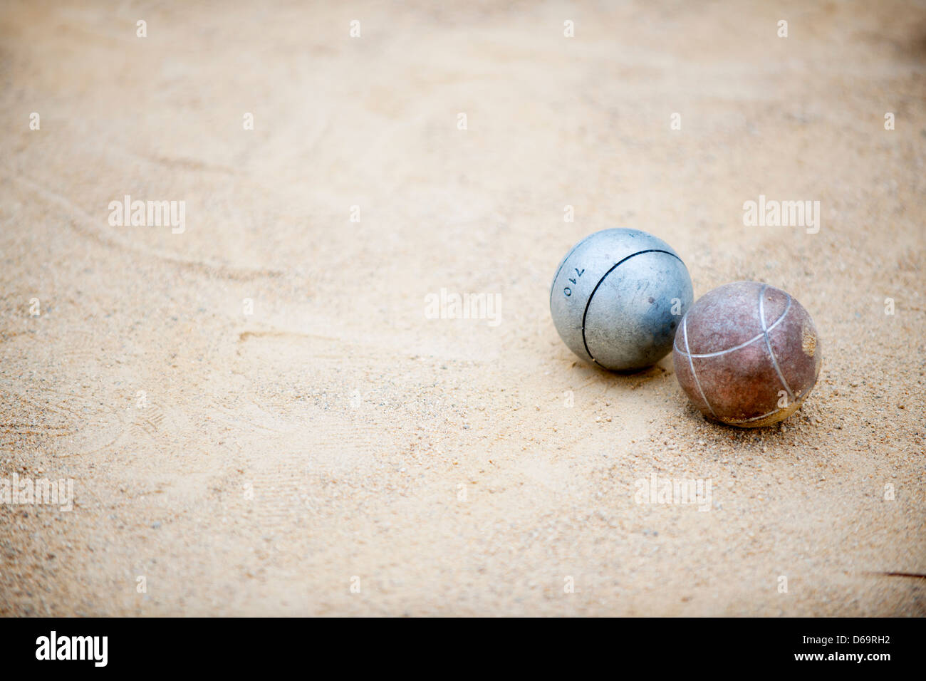 Close up of bocce balls - Stock Image