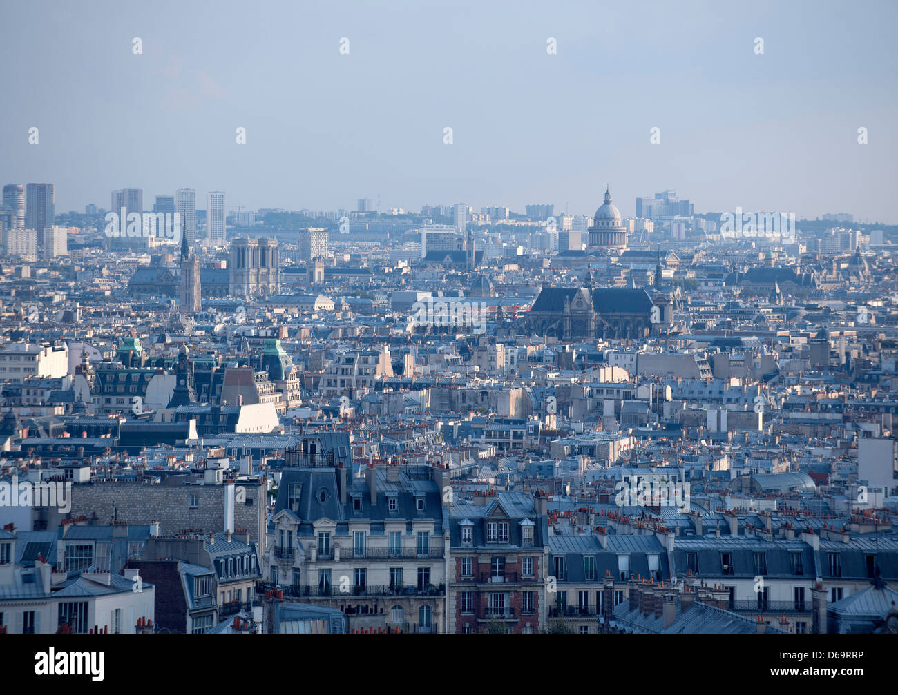 Aerial view of urban skyline - Stock Image