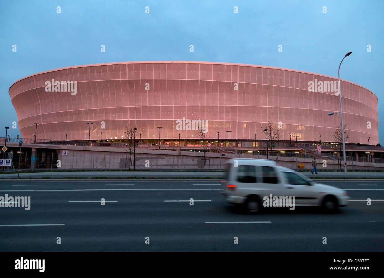 Wroclaw, Poland, EM Spielstaette Municipal Stadium Wroclaw - Stock Image