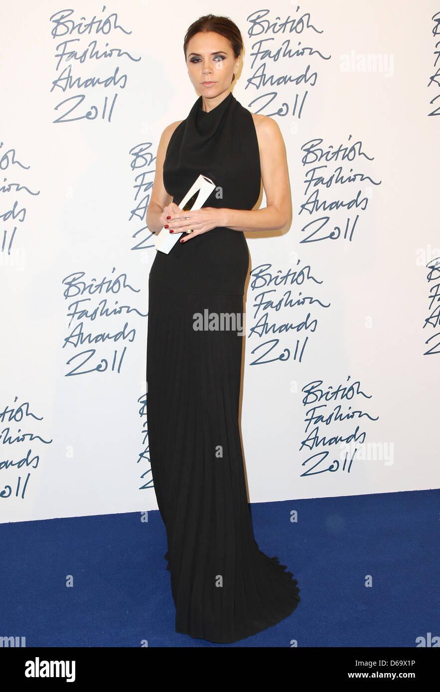 Victoria Beckham, winner of Designer Brand The British Fashion Awards 2011,  held at the Savoy - Press Room London, England - f3656e874f29