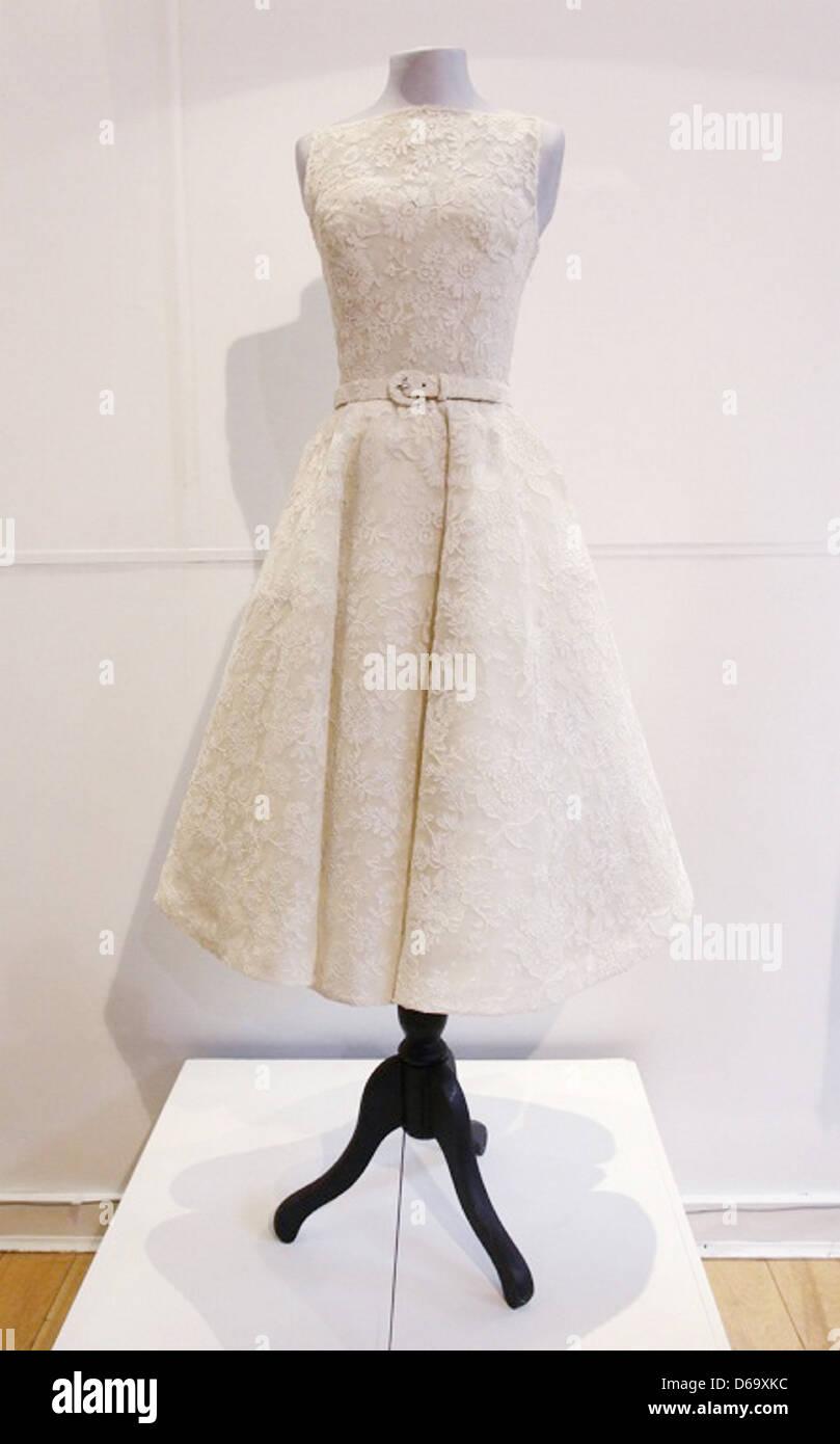 c2aa4c77cb9d Audrey Hepburn dress Passion For Fashion photo call at La Galleria London,  England - Stock