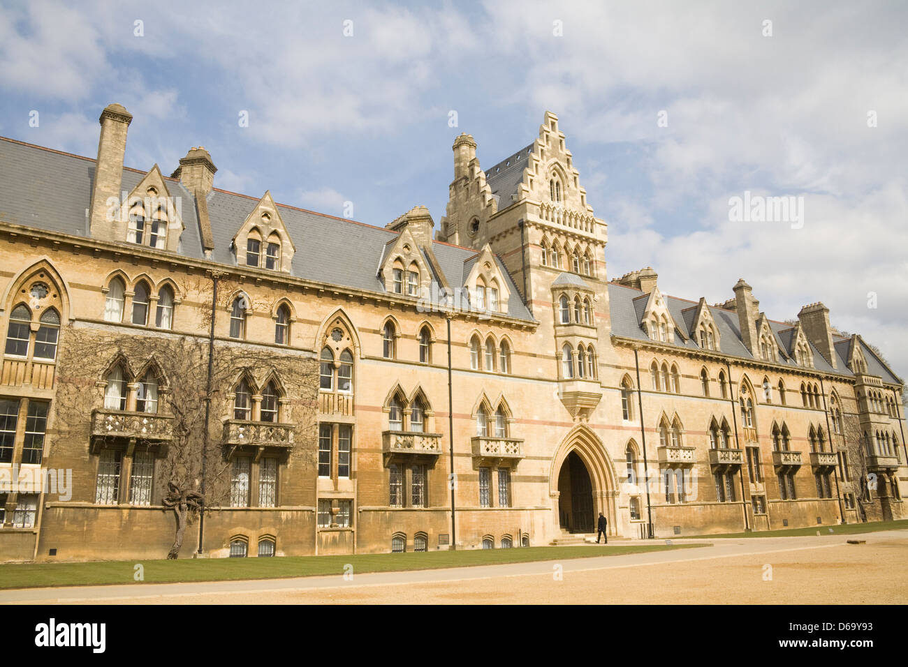 Oxford Oxfordshire Meadow Building main Meadow Gate entrance of Christ Church College and Cathedral one of the Oxford - Stock Image