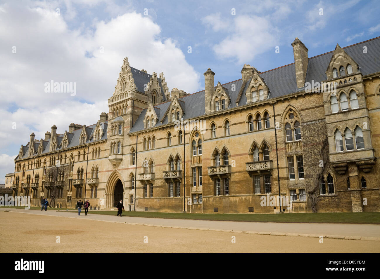 Oxford Oxfordshire Meadow Building main Meadow Gate entrance of Christ Church College and Cathedral off Broad Walk - Stock Image