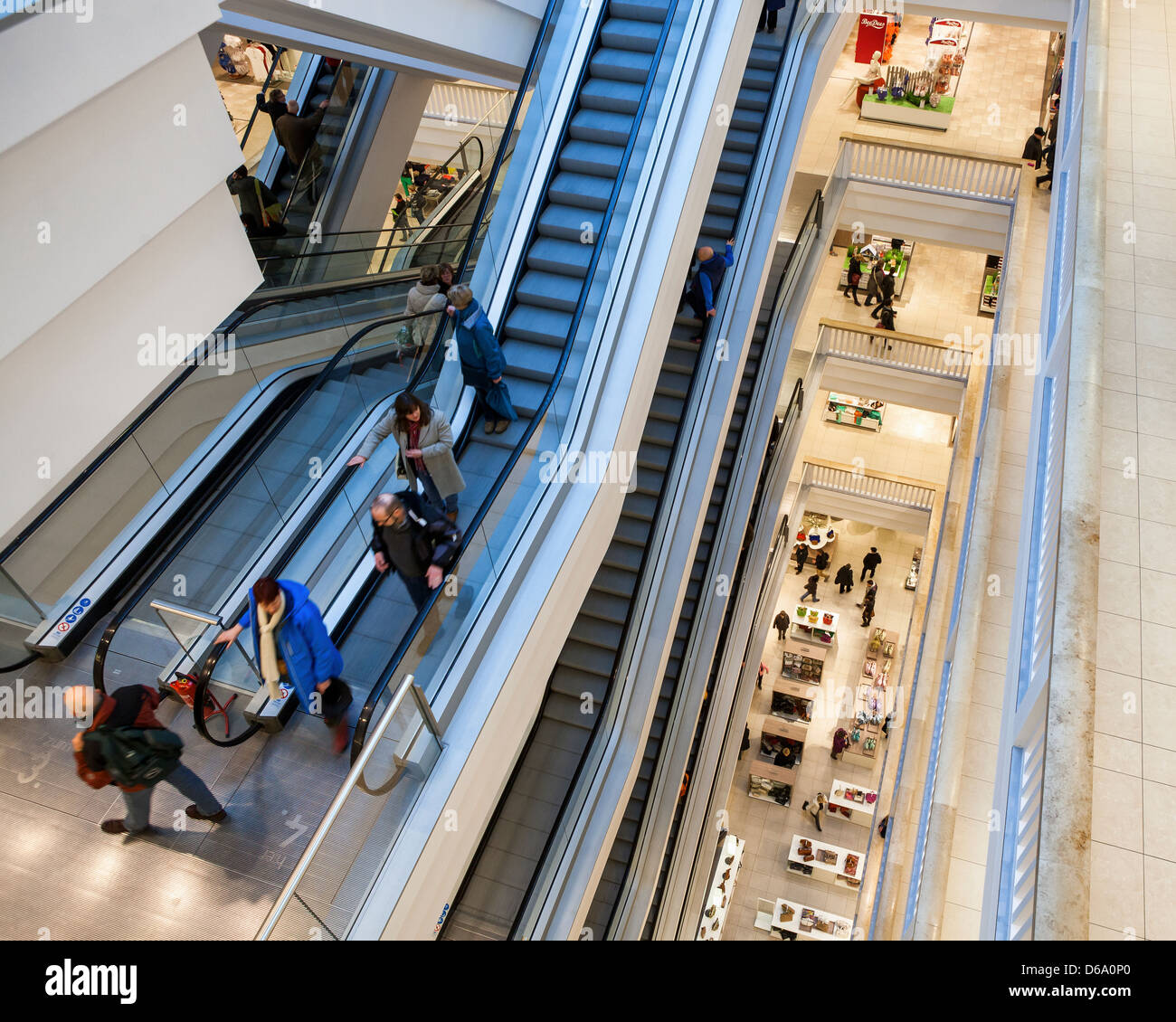 Galeria Kaufhof: Store Escalators Stock Photos & Store Escalators Stock