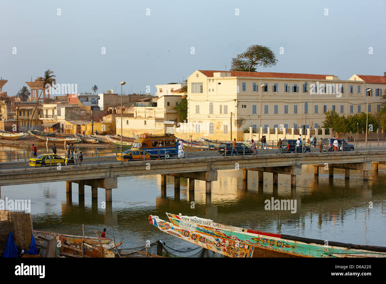 Pont Mustapha Malick Gaye Bridge, Saint-Louis, Senegal, Africa - Stock Image
