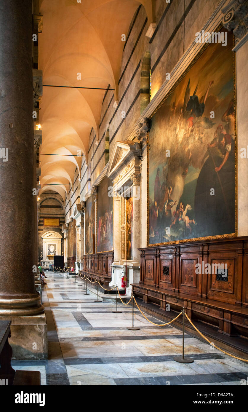 Indoor Miracoli Square of Miracles, Pisa Stock Photo